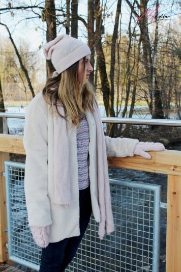 Selbstgenähter Fake Fur Mantel von Stoff&Stil